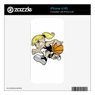 BASKET GIRL SKINS FOR iPhone 4S