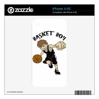 BASKET GIRL SKINS FOR THE iPhone 4