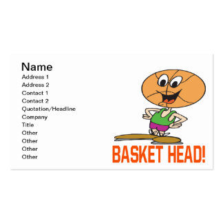 Basket Head Business Card