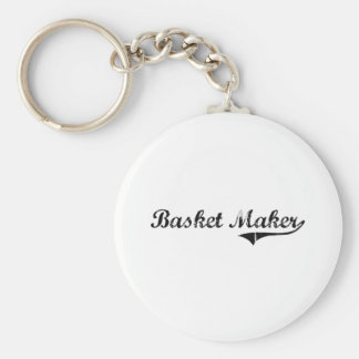 Basket Maker Professional Job Basic Round Button Keychain