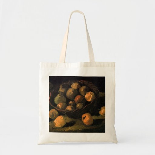 Basket of Apples by Vincent van Gogh Canvas Bag