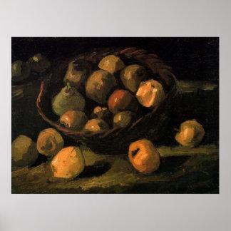 Basket of Apples by Vincent van Gogh Posters