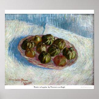 Basket of apples by Vincent van Gogh Poster