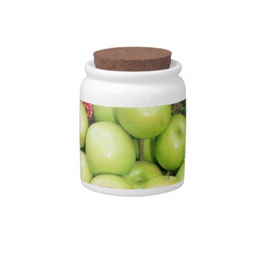 Basket of apples candy jars