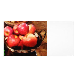 Basket of Apples in Kitchen Photo Cards