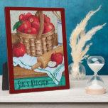 Basket of Apples Kitchen Art - Display Plaque