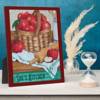 Basket of Apples Kitchen Art - Plaque