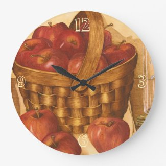 Basket of Apples - Kitchen Clock