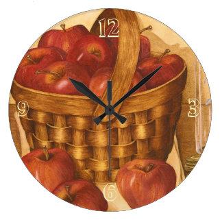 Basket of Apples - Kitchen Clock