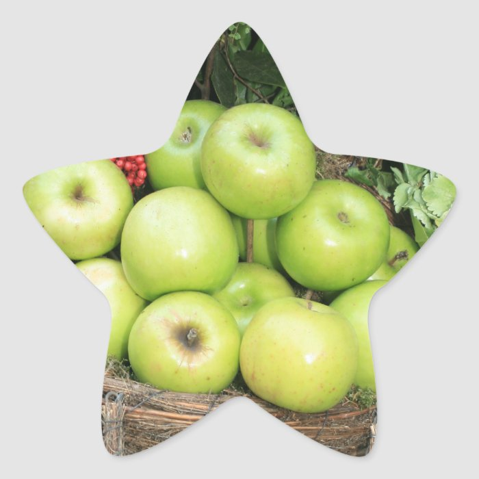 Basket of apples star sticker