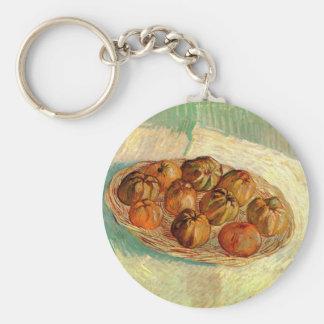 Basket of Apples to Lucien Pissarro by Van Gogh Keychains