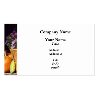 Basket of Asters With Pumpkin and Gourd Business Card
