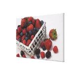 Basket of berries canvas print