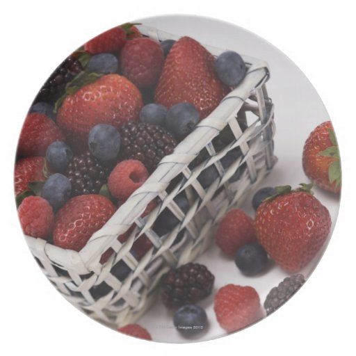 Basket of berries party plate