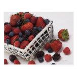Basket of berries postcard