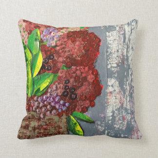 Basket of Blooms Throw Pillow