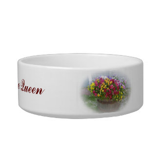 Basket of Blossoms Cat Water Bowls