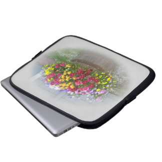 Basket of Blossoms Laptop Computer Sleeves