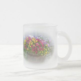Basket of Blossoms 10 Oz Frosted Glass Coffee Mug