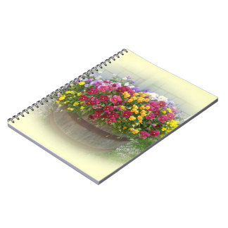 Basket of Blossoms Spiral Notebook