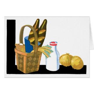 Basket of Bread Greeting Card