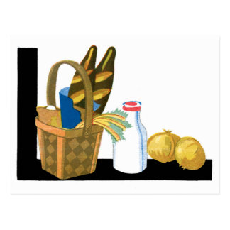 Basket of Bread Postcard