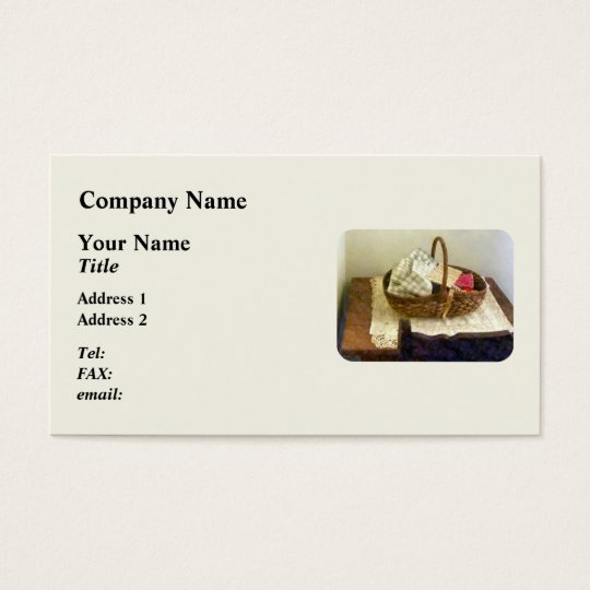 Basket of Cloth and Measuring Tape Business Card