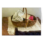 Basket of Cloth and Measuring Tape Card