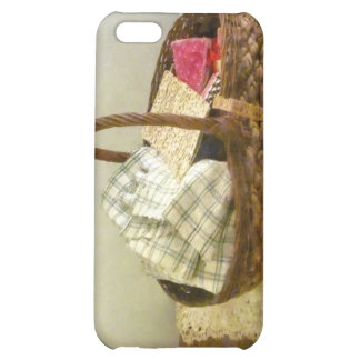 Basket of Cloth and Measuring Tape Cover For iPhone 5C