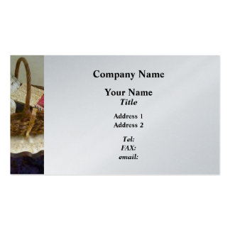 Basket Of Cloth and Measuring Tape - Platinum Double-Sided Standard Business Cards (Pack Of 100)