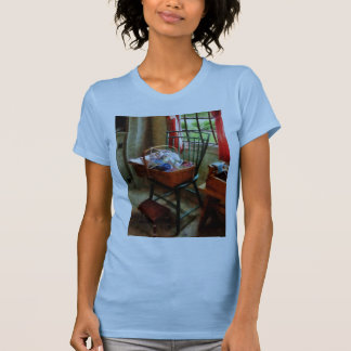 Basket of Cloth and Yarn on Chair T-Shirt
