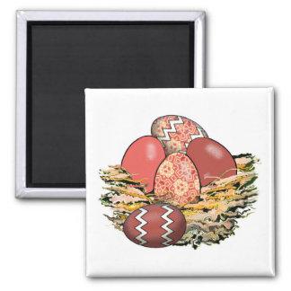 Basket of Colorful Easter Eggs 05 Magnet