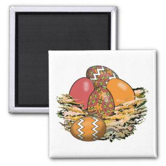 Basket of Colorful Easter Eggs 11 Fridge Magnets