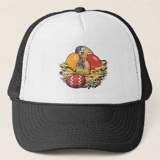 Basket of Colorful Easter Eggs 13 Trucker Hat