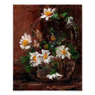 Basket of Daisies Poster