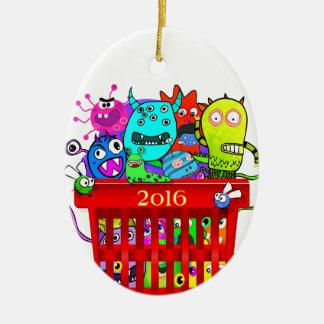 Basket of Deplorables, Adorable Deplorable Ceramic Ornament