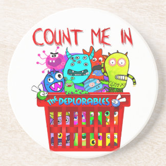 Basket of Deplorables, Count me in Coaster