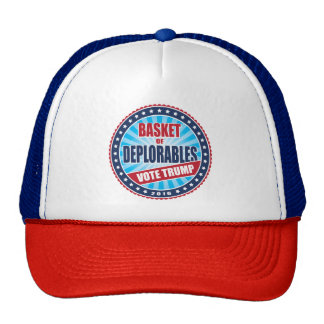 Basket of Deplorables Vote Trump 2016 Seal Trucker Hat