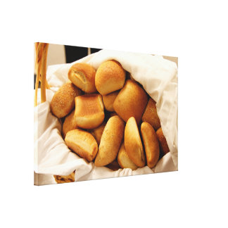 Basket of Dinner Rolls Gallery Wrap Canvas