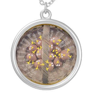 Basket of Egg Chicks Necklace