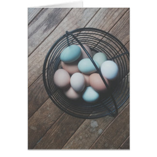 Basket of eggs Easter Card