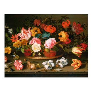 Basket of flowers, 1625 postcards