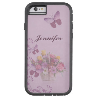 Basket of Flowers and Butterflies, Name Tough Xtreme iPhone 6 Case