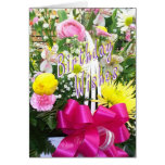 Basket of Flowers Bday Wishes Greeting Card