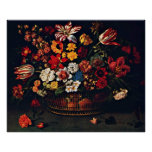 Basket of Flowers by Jacques Linard Print