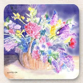 Basket of Flowers Drink Coaster