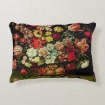 Basket of Flowers Decorative Pillow