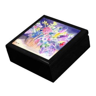 Basket of Flowers Keepsake Boxes