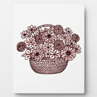 Basket of Flowers Plaque