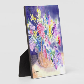 Basket of Flowers Photo Plaques